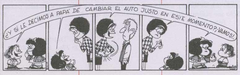 mafalda cambiar de auto