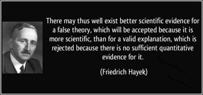 Hayeck Quote quantitative evidence
