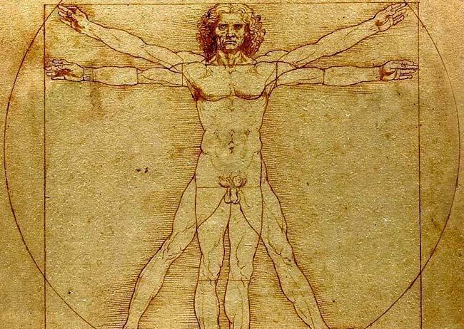 Hombre vitrubiano de Leonardo da Vinci