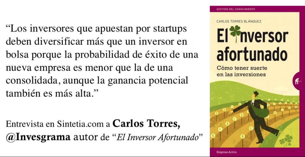 Inversor Afortunado. Startups