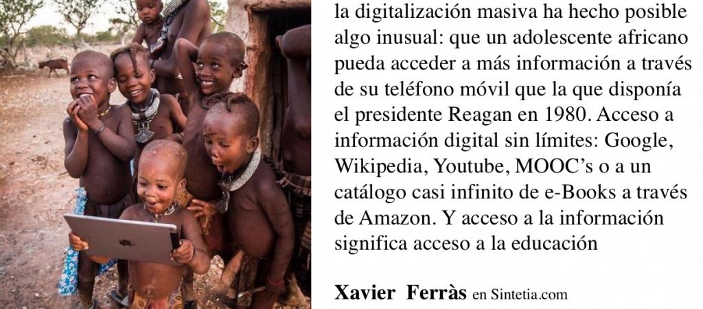Digitalización, información y posibilidades de futuro