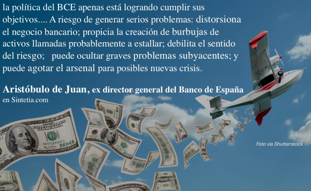 Helicóptero del BCE y sus consecuencias