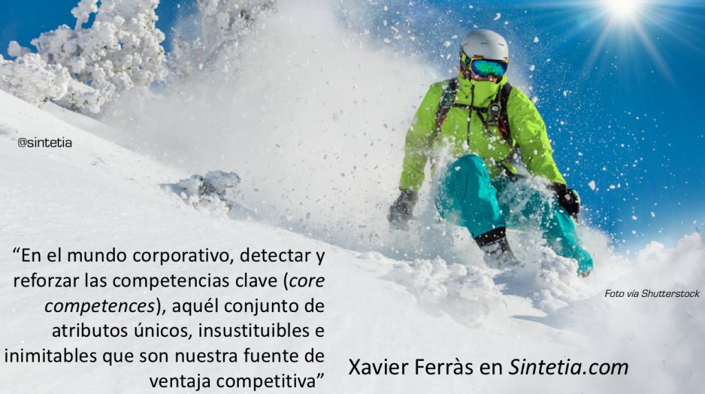 esquiador y estrategia