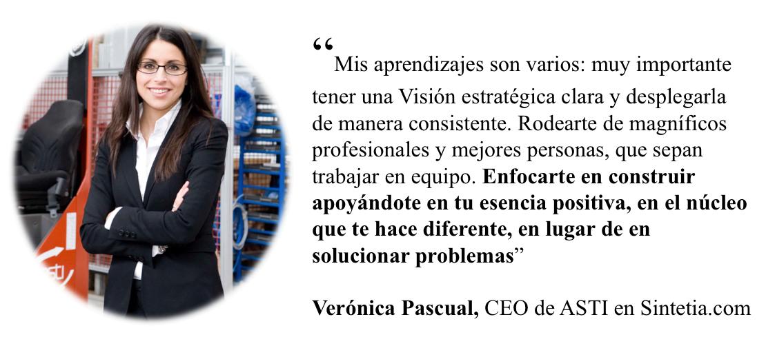 Veronica Pascual. Aprendizajes