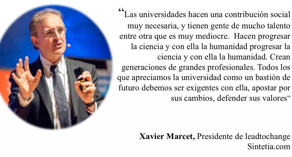 Xavier Marcet. Universidad. Sintetia