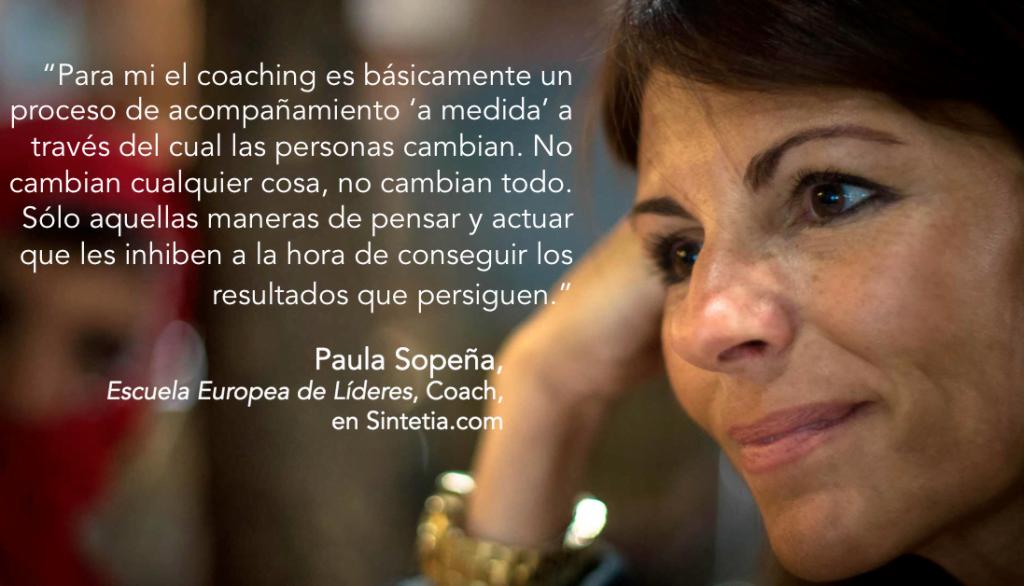 Paula Sopeña sobre Coaching