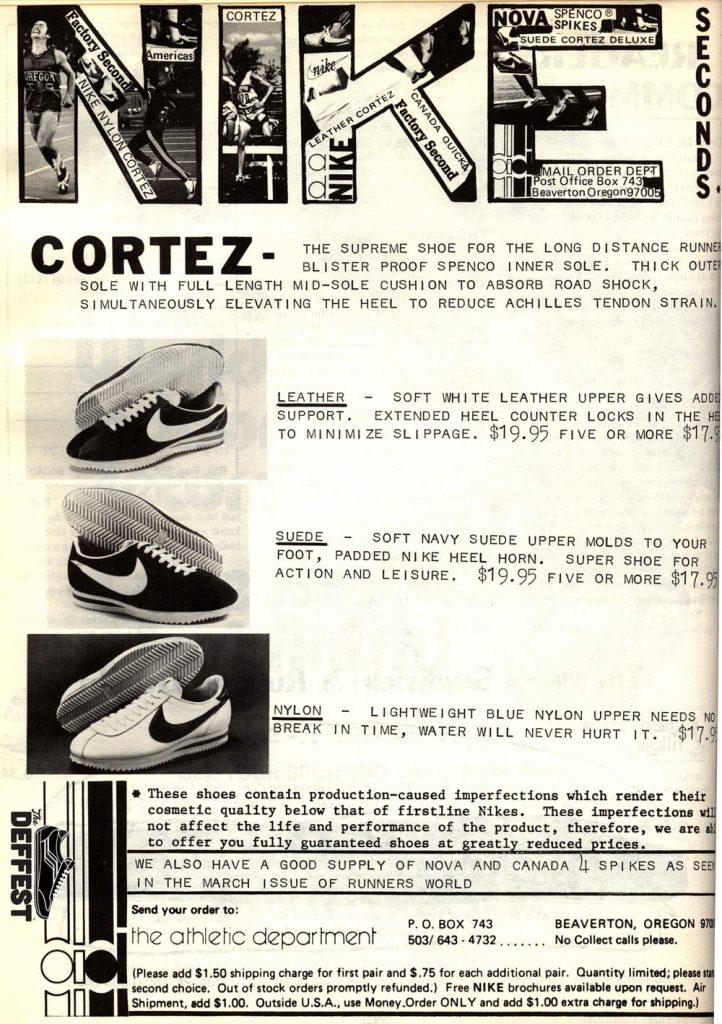 Publicidad de las zapatillas Nike Cortez